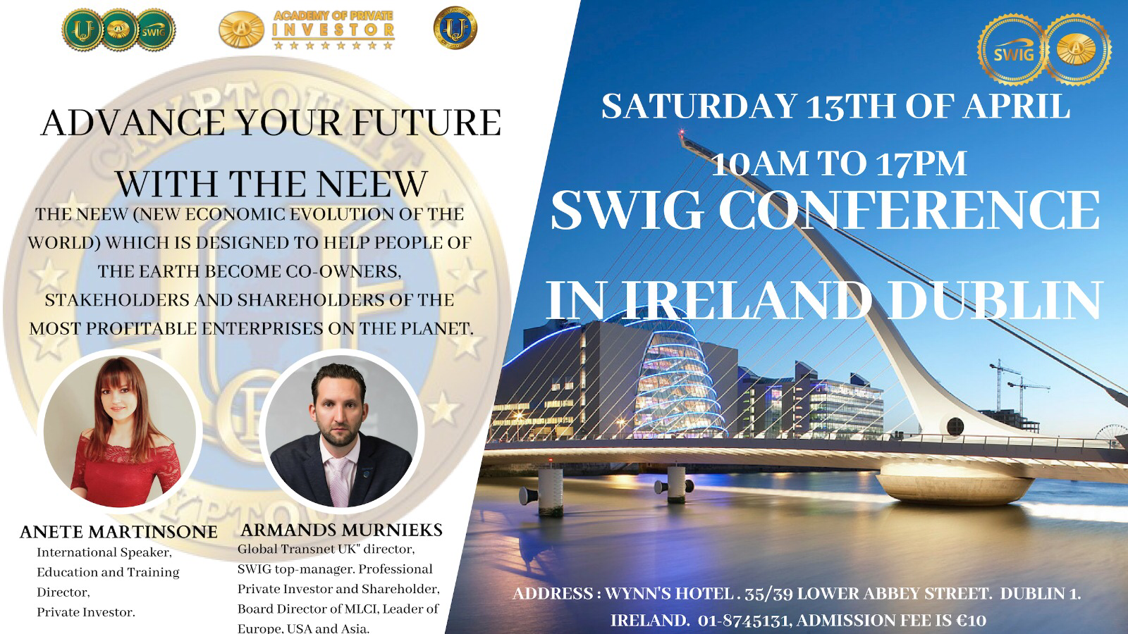 SWIG CONFERENCE IN IRELAND DUBLIN by SkyWay Invest Group
